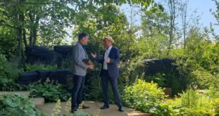 Designer Andy Sturgeon with Joe Swift on The M&G Garden, Best in Show winner 2019